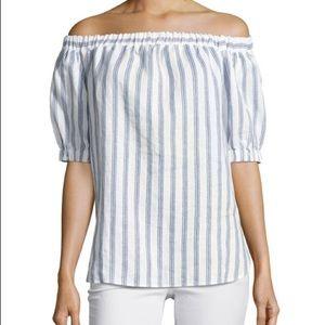 Michael Kors Off-the-shoulder linen top